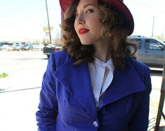Peggy Carter Blue Skirt Suit Handmade