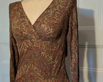 Firefly Zoe Kaylee Frye River Tam Cosplay Brown Paisley Top - Ready to Ship