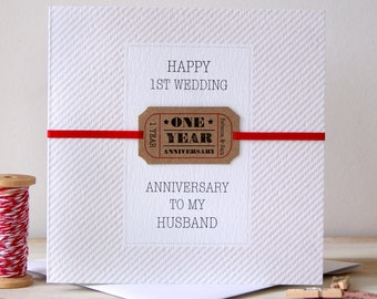 1st anniversary card etsy personalised 1st wedding anniversary card m4hsunfo