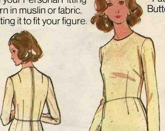 "Butterick 3003 Basic fitted dress pattern muslin shell sheath bespoke a-line skirt Vintage Size 16 1/2 Bust 39"" uncut sewing pattern"