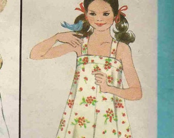 Sewing Pattern Simplicity 8369 Strappy flared dress straight neckline gathered frill Size 10 12 condition varies