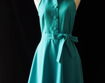 8cc1164ad2c DOWNTOWN - Shirt Dress Jade Green Dress Casual Dress Party Prom Modern  Vintage Style Jade Green Bridesmaid Dress