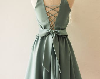 Vintage Green Wedding Dress
