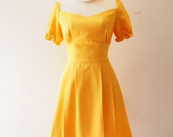 Vintage Puff Sleeve Dress