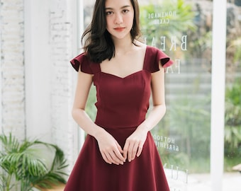 Dark Red Dress