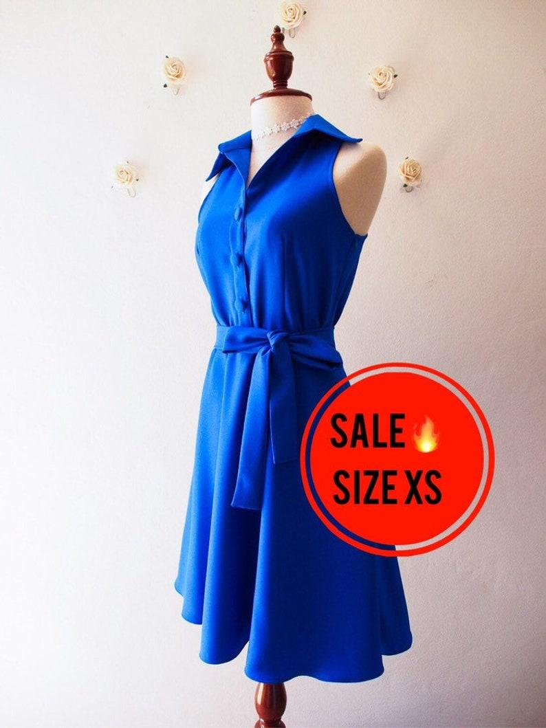 SALE  Blue Shirt Dress Size XS image 0