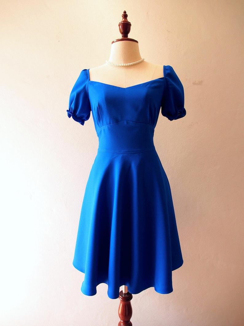 eb5ce1d301 Swing Dance Dress Royal Blue Dress Sundress Happily Ever