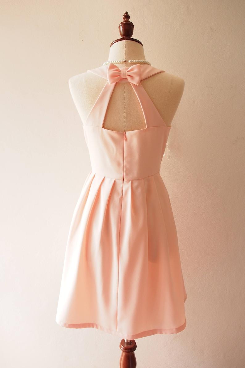 cb87d114bc8 Love Potion Pale Peach Dress Vintage Sundress Peach Pink