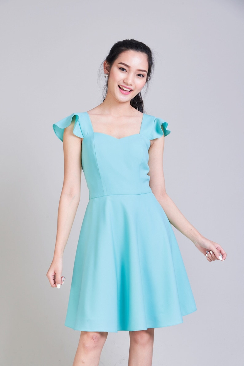 d48b60b960 Pastel Blue Short Bridesmaid Dresses - Gomes Weine AG