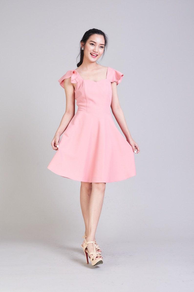 03f8c2da6578 Blush pink dress with sleeves