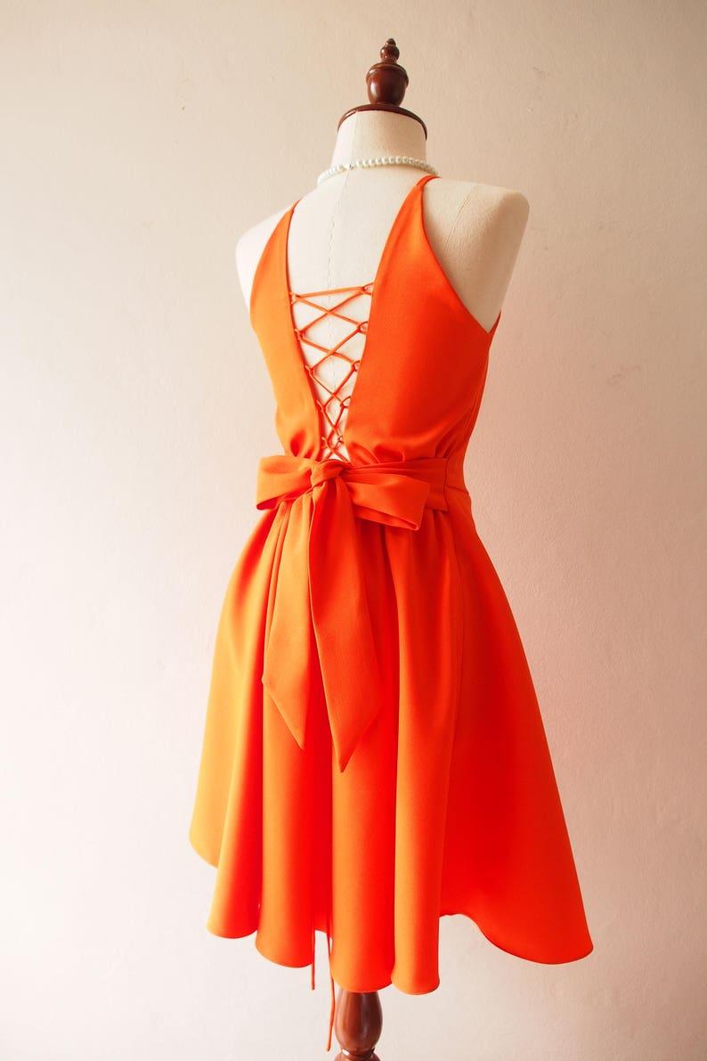 2019 halloween dress Tangerine Dress Graduation Dress Orange image 0