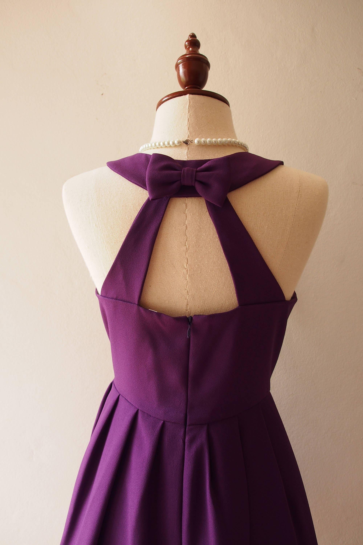 0a0347e8674 Love Potion Eggplant Party Dress Vintage Style Sundress