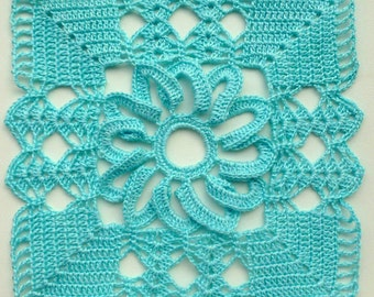 Instant Download Crochet PDF pattern - Lacy square motif (1)