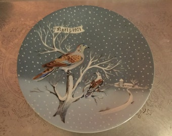 TWO TURTLE DOVES Collector Plate Haviland 2nd in Series 1991