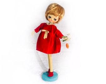 e90dfb970d4 Vintage Big Eyed Herman Pecker Jill Doll - 1960 s Mid Century Modern Japan  Cloth Pose Doll
