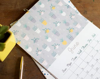 2018 Pattern Printable Calendar 4x6