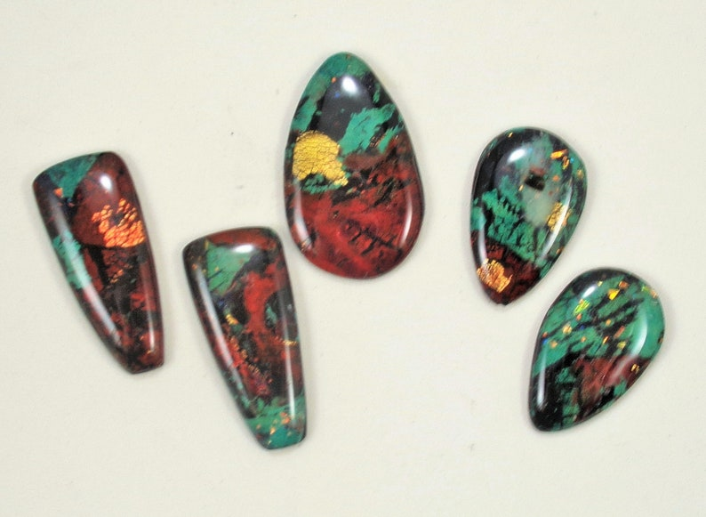 StudioStJames Handcrafted Clay Sonora Sunrise Cabochon-Blue Green Red Southwestern Cab-Bead Embroidery Supplies-PA 104710-104713