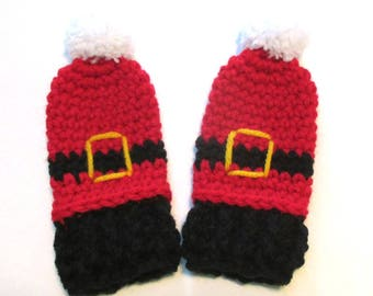 c18a567ecd9 Thumbless baby Santa mittens. One size. Made to order. Christmas mittens  for babys first Christmas. Stocking stuffer baby.
