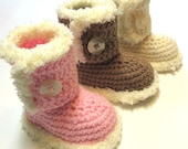 79e1d0dddf187 Items similar to NEW baby girl boots with fuzzy trim. Made to order ...