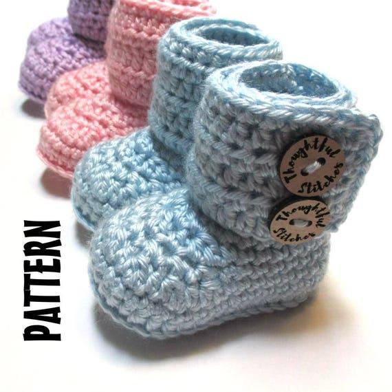 48e00ef0a88fd CROCHET PATTERN Baby boots. Crochet pattern baby booties 0-3 months, 3-6  months, 6-12 month easy crochet pattern baby boots booties.