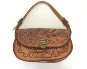 Vintage Tooled Leather Ba...