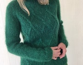 Vintage Cable Knit Mohair...