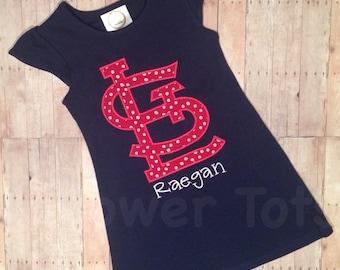 St. Louis Cardinals Dress - STL, monogrammed, applique,