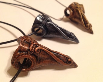 DarksideArt  Gothic / Steampunk Plague Doctor Mask Necklace