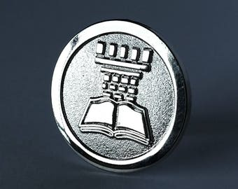 JW.org pin for Jehovah's Witnesses silver watchtower JW gift