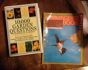 On Sale Vintage Books, 10,000 Garden Questions, Hard Cover. Hummingbird Book, Stokes, Soft Cover, You Recieve Exact 2 Books Pictured,Its a S