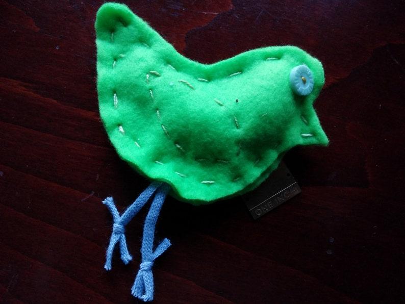 FALL CLEARANCE Catnip CAT Toy BirdHand StitchedButton image 0