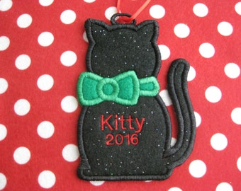 Personalized Cat Kitty Ornament or Gift Tag