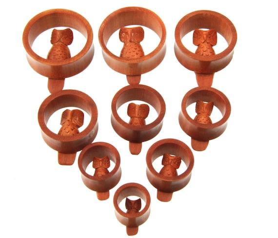 5mm JewelryVolt Organic Horn Hook Plugs with Star Inlay