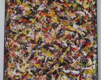 Abstract Pizza Party Palette Knife Painting