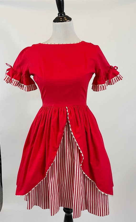 Vintage 1950s Neusteters Red Candy Cane Striped Co