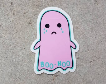 Boohoo Crying Ghost Sticker
