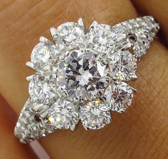 Awesome White Pear Cut Diamond 925 Sterling Silver 3.20ct Engagement Ring Size 7