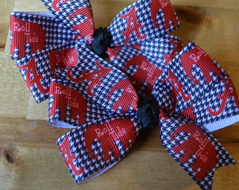Set of Two Alabama Crimson Tide Hair Bows Roll Tide