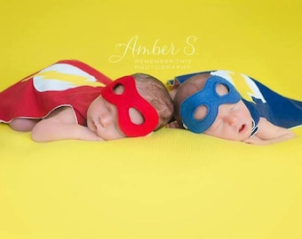 Infant Super Hero Cape Choose Your Own Symbol with mask