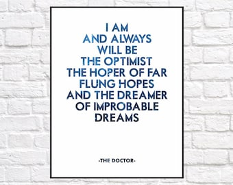 Dr Who Inspirational Print - Instant Download
