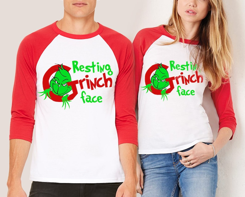 66f56cf304798 Resting Grinch Face SHIRT Couples Matching shirts Ugly