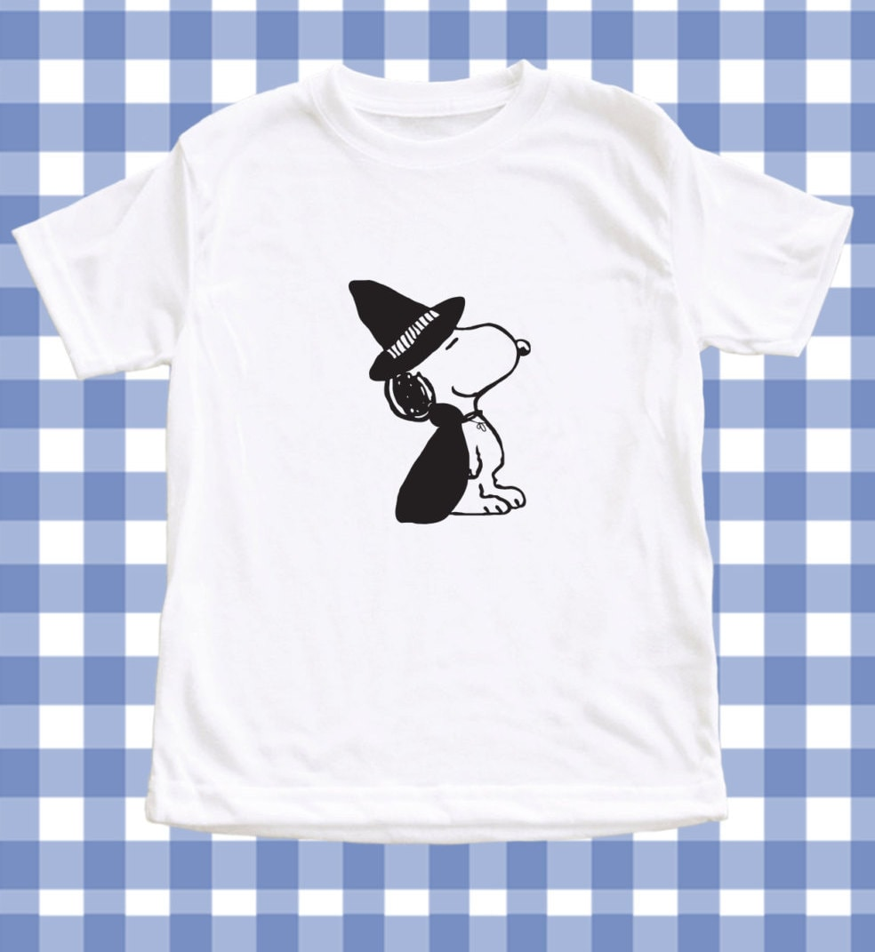 new halloween snoopy the wizard screen printed | etsy
