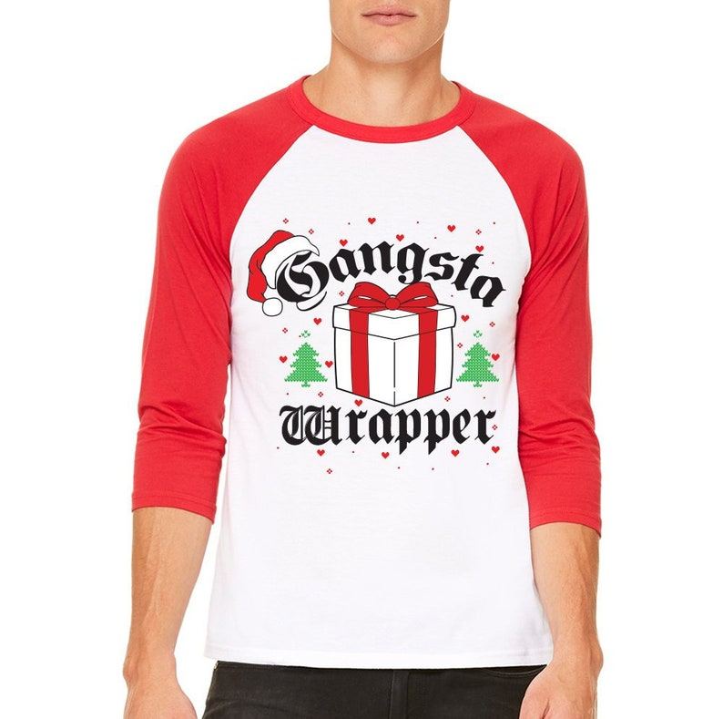 6a19685a Gangsta Wrapper Ugly Christmas Sweater. Funny Christmas   Etsy