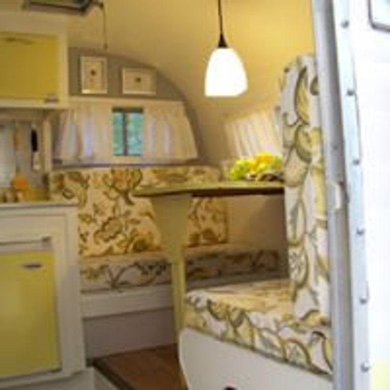 Custom Made Vintage Camper Dinette Cushions Airstream Shasta Etc Includes Foam