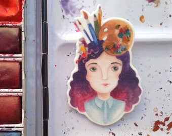 Paint lover brooch
