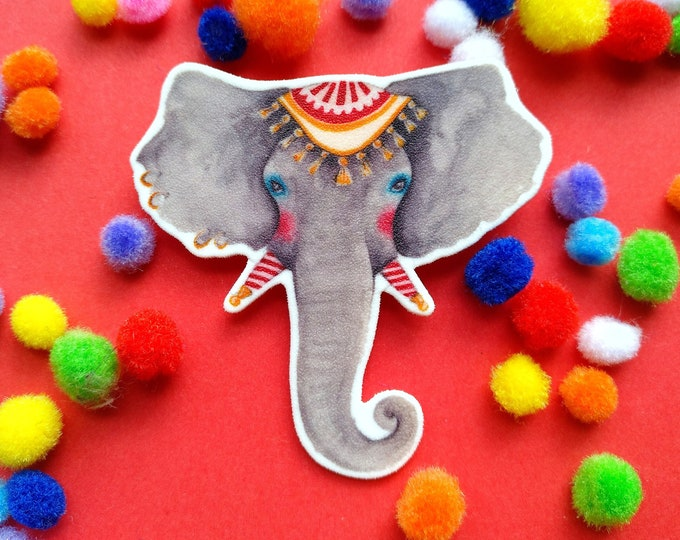 Featured listing image: The circus elephant brooch