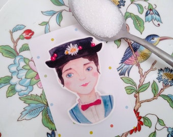 Mary Poppins Brooch