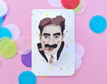 Groucho Marx brooch