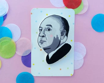 Alfred Hitchcock brooch