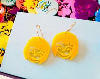 Rainbow buddy earrings #2